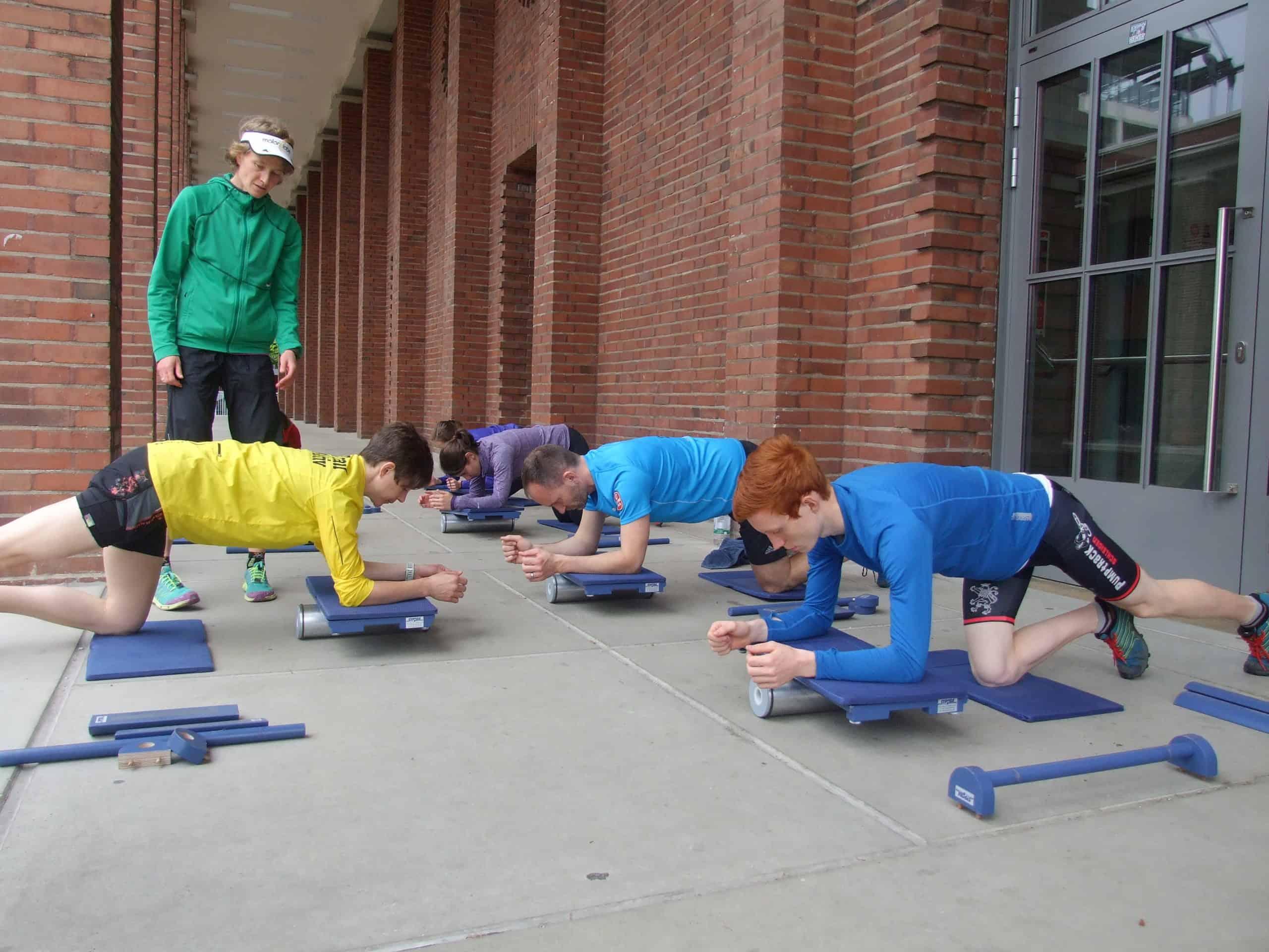 Eine Gruppe beim Training