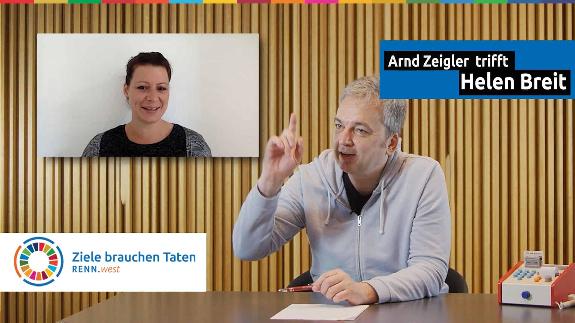 Arnd Zeigler mit Helen Breit